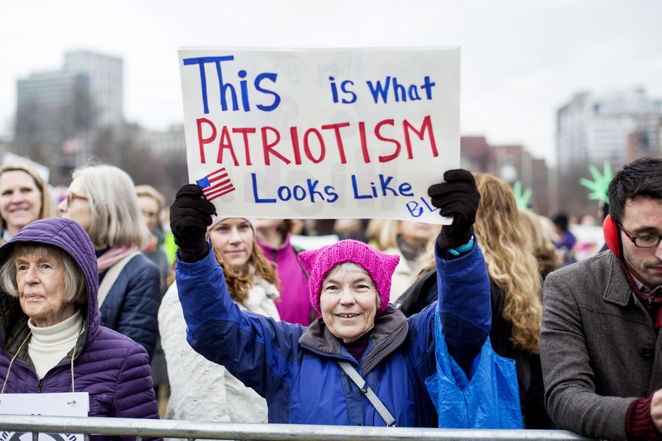 A picture from the Boston Women's March on Jan. 21.