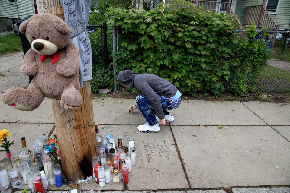 In May, Boby Johnston left a message near site where David Stewart was shot and killed in Dorchester.