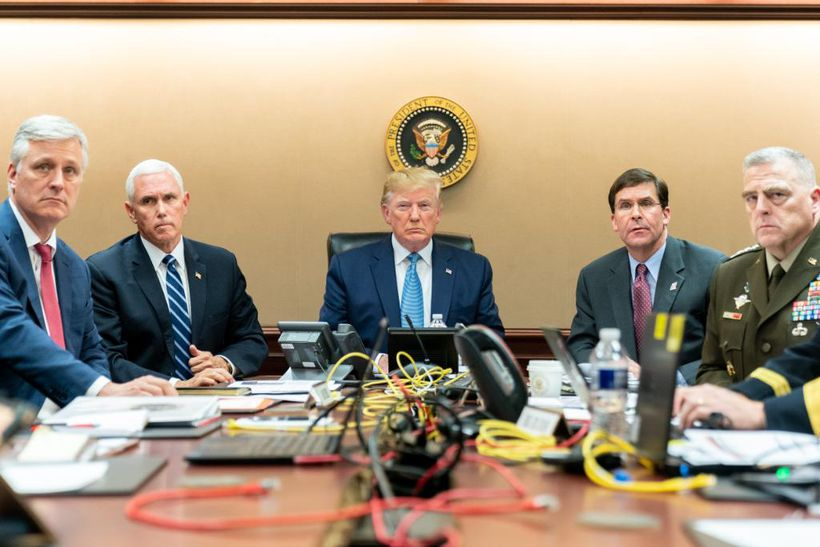 President Donald Trump watched in the Situation Room as US Special Operations forces closed in on ISIS leader Abu Bakr al-Baghdadi.
