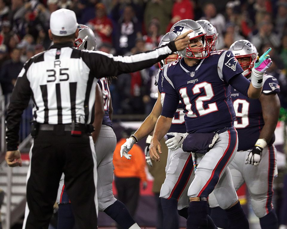 Tom Brady and the Patriots dominated the clock in the fourth quarter of their victory over the Chiefs Oct. 14.