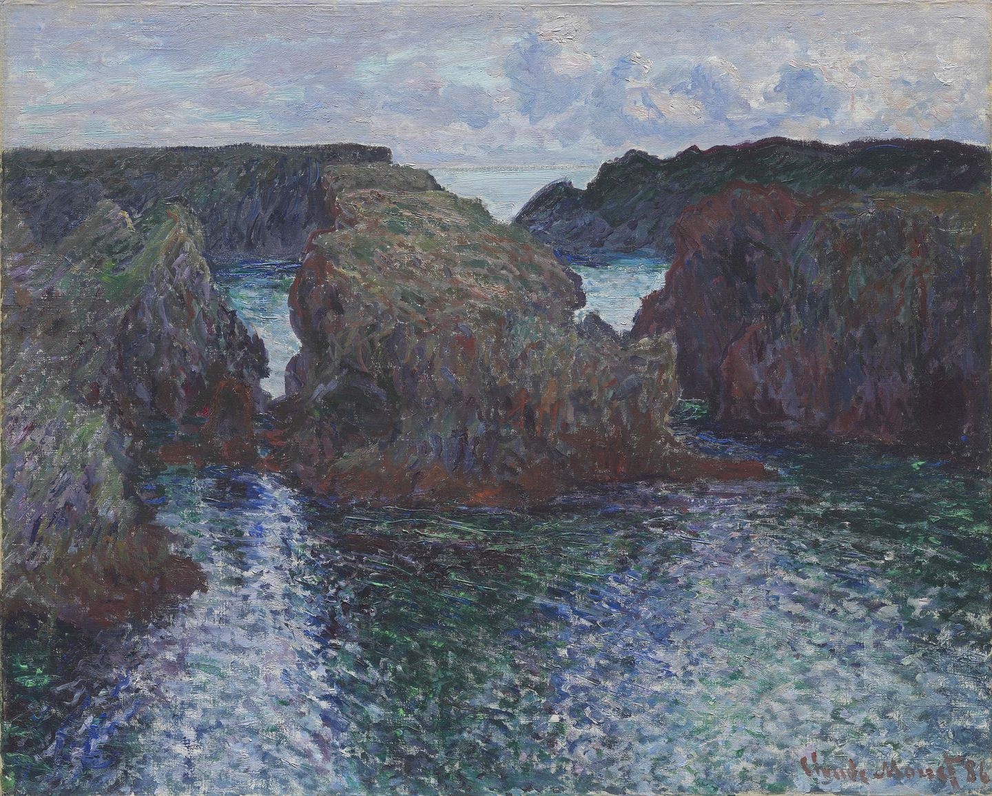 """Rocks at Port-Goulphar, Belle-Ile'' by Claude Monet."