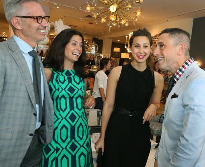 From left: Bryan Rafanelli, Jamie Genser, Samantha David, and David Adler on Monday night.BILL BRETT FOR THE BOSTON GLOBE/BOSTON GLOBE