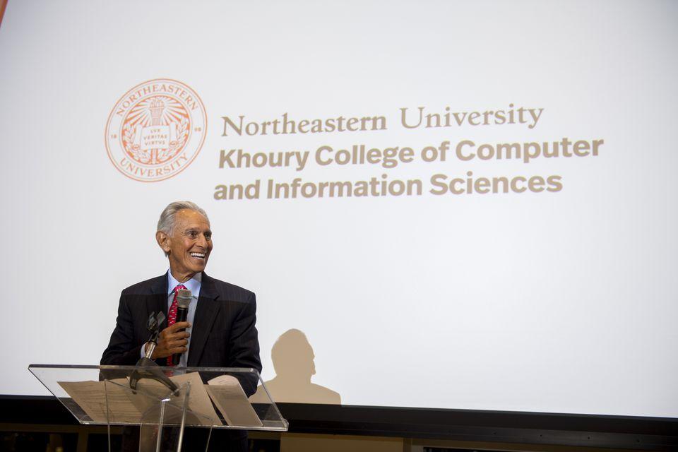 Amin Khoury donated $50 million to his alma mater, Northeastern University.