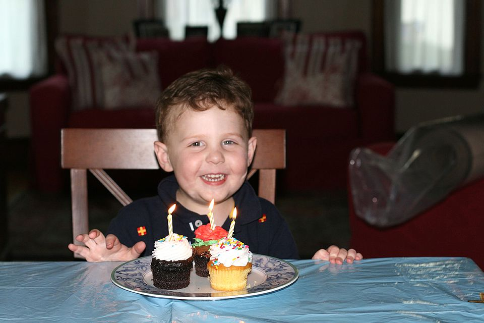 Will Lacey during his third birthday on Aug. 24, 2007.