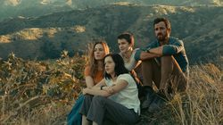 """From left: Melissa George, Logan Polish, Gabriel Bateman, and Justin Theroux in """"The Mosquito Coast."""""""