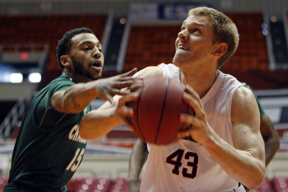 Scott Eatherton came to NU after two seasons at St. Francis. He has been a force at both ends of the floor.