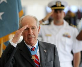 A native of Fall River, Thomas J. Hudner Jr. received the Medal of Honor in 1951 for his efforts to save a fellow pilot during the Korean War.