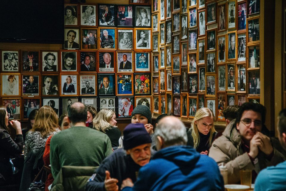 Its walls lined with photos of celebrities who have eaten there, the Carnegie opened in 1937.