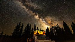 The grand-prize-winning photo, taken by Mark Gruenhaupt, captures the Milky Way Galaxy above a camping area in the San Juan National Forest in the southwestern corner of Colorado, taken in July 2020.