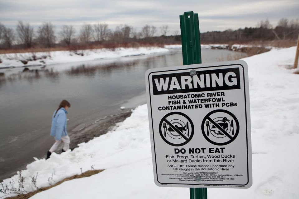 The Housatonic River has been polluted for decades. General Electric Co., which is moving its headquarters to Boston, objects to a new federal plan that would force it to spend hundreds of millions of dollars to clean the river.
