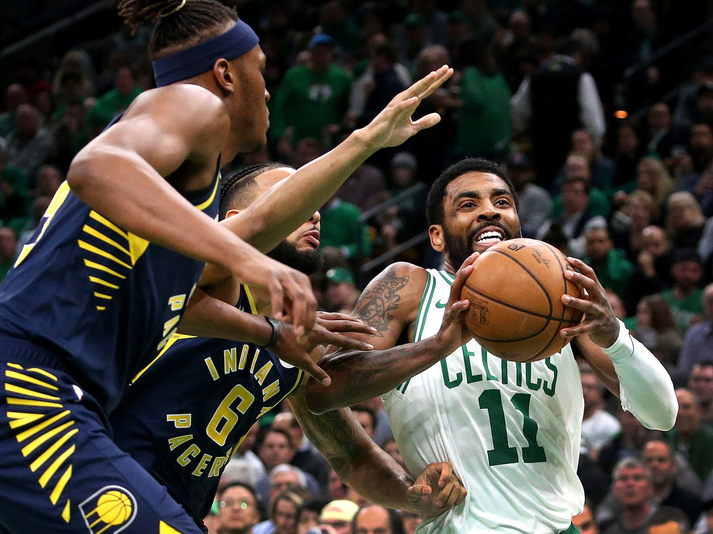 317079e0434 Celtics guard Kyrie Irving was a one-man wrecking crew for the Celtics on  Wednesday