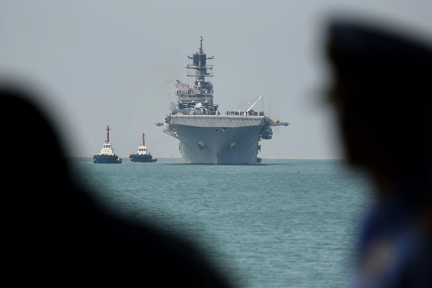 The amphibious assault ship USS America entered waters off Malaysia that are contested by China.