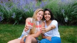 Olivia Tulkoff, left, and Priya Mittal, right, recently founded Fette, a company which sells sustainable alternatives to the ubiquitous red plastic cups.