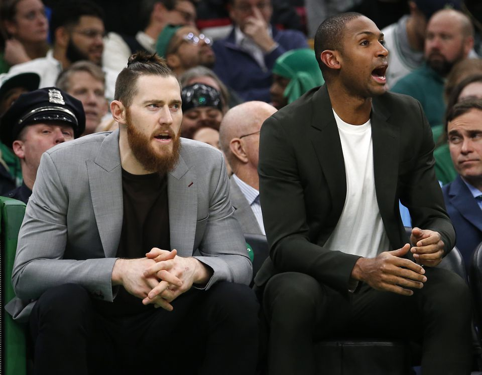 Al Horford has missed Boston's last three games. Aron Baynes is questionable for Wednesday's game.
