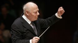 Bernard Haitink conducted the Boston Symphony Orchestra in Boston in 2019.