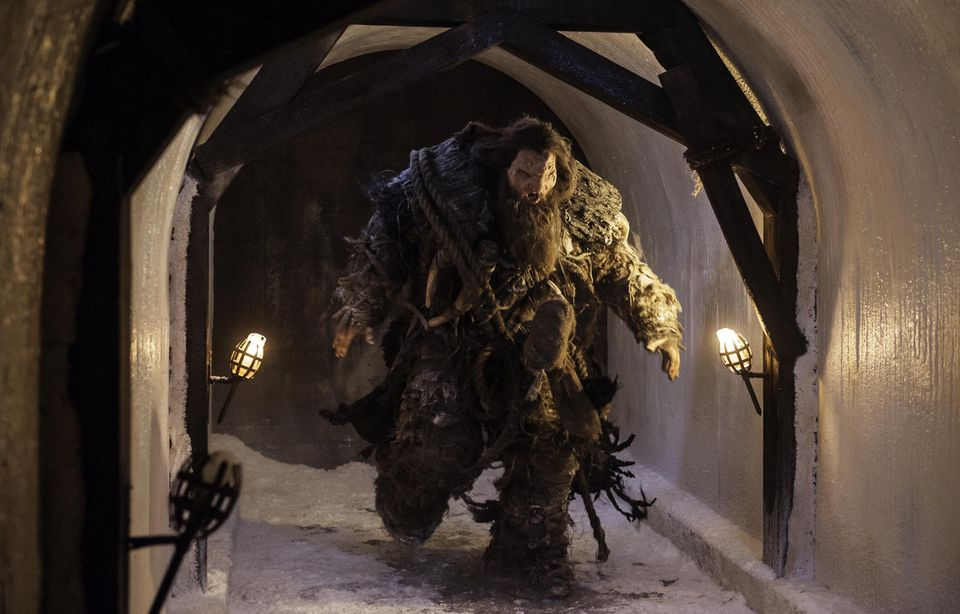 """Neil Fingleton played a colossal, bearded creature named """"Mag the Mighty."""""""