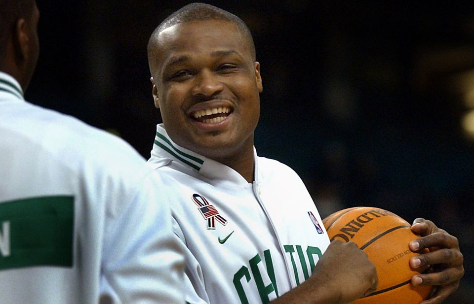Antoine Walker had plenty to smile about in this photo taken in 2002 when he and Paul Pierce led the Celtics to the Eastern Conference finals.