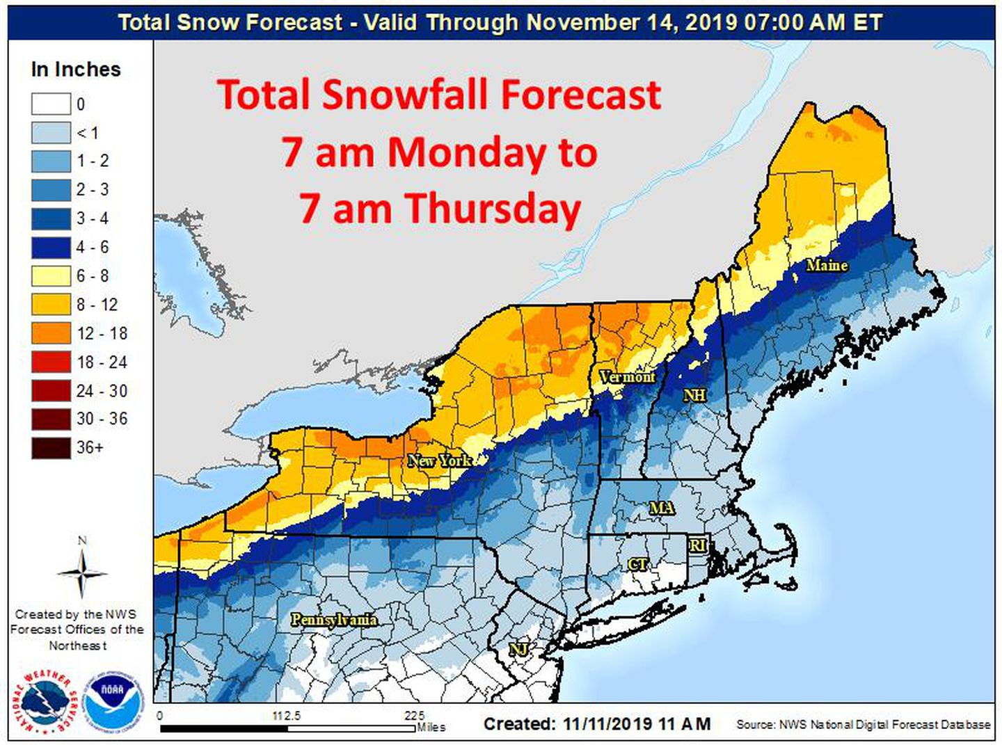boston snow total map Maps When And Where To Expect Snow And Record Cold This Week In boston snow total map