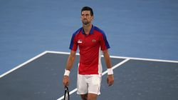 Novak Djokovic, of Serbia, after being defeated by Alexander Zverev, of Germany.