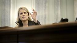 Former Facebook data scientist Frances Haugen spoke during a Senate subcommittee hearing in Washington, D.C.