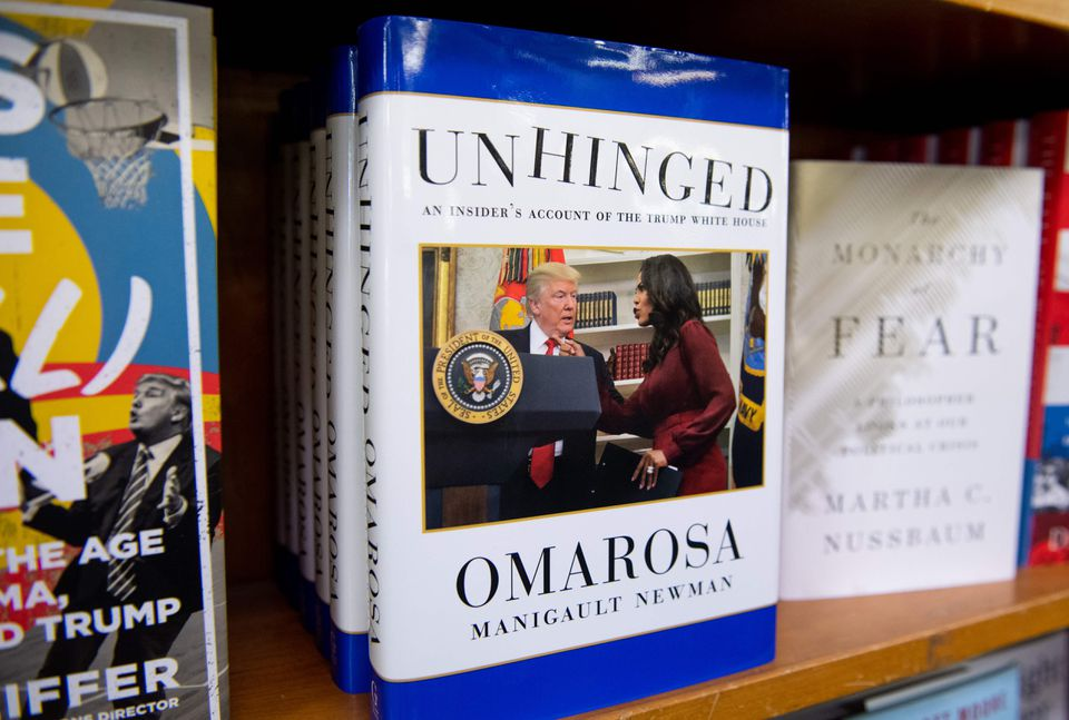 """Unhinged,"" the new tell-all book by former White House aide Omarosa Manigault Newman."