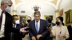 Senator Joe Manchin (D-W.Va.) left a Senate Democratic luncheon on Capitol Hill in Washington on Oct. 7, 2021.