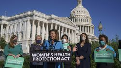 House Speaker Nancy Pelosi joined other Democratic women lawmakers at a news conference ahead of the vote on the Women's Health Protection Act.