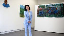 Yng-Ru Chen at her Praise Shadows Art Gallery in Brookline.