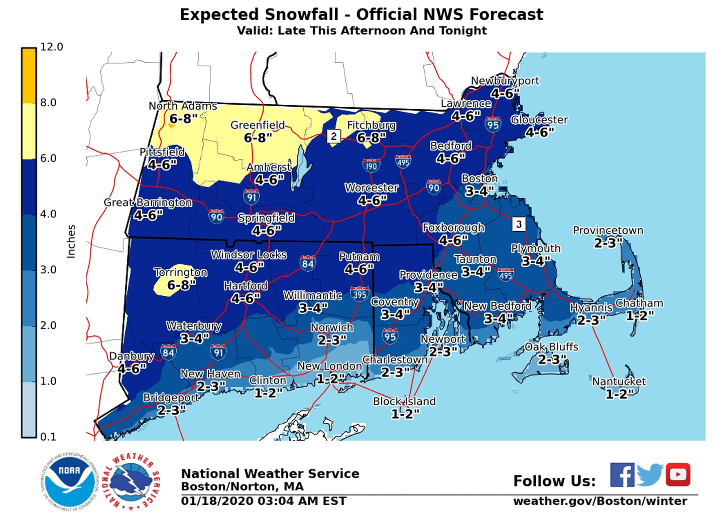 Maps: Here's the latest snowfall outlook for Saay - The ... on road map western ma, massachusetts western ma, map of berkshires massachusetts,
