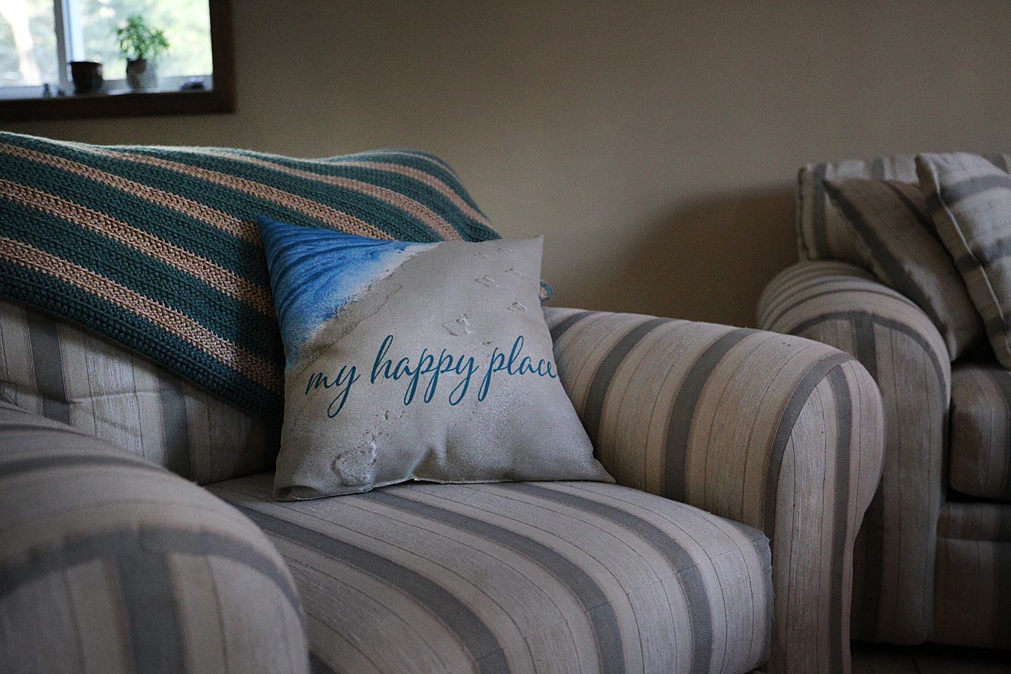 A pillow in DeFazio's home described what she has vowed to create for herself.