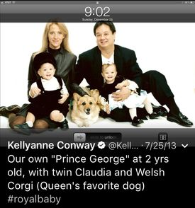 A family photo on the Twitter account of White House Counselor Kellyanne Conway.