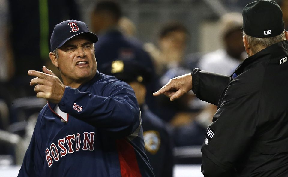 John Farrell has had his run-ins with umpires, but instant replay has negated a lot of that in the majors.