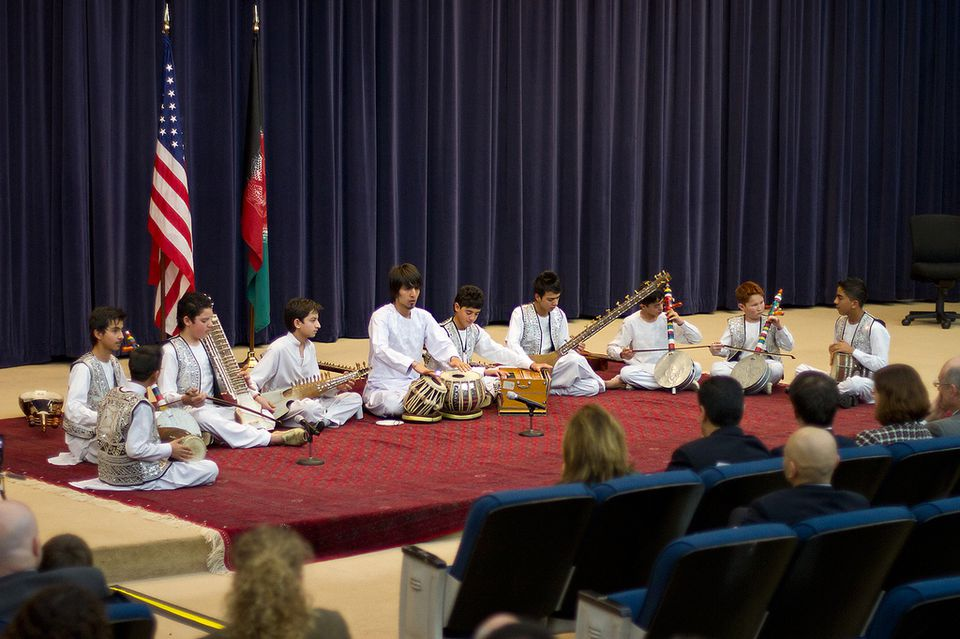 Students from the Afghanistan National Institute of Music performed at the State Department in Washington last week.