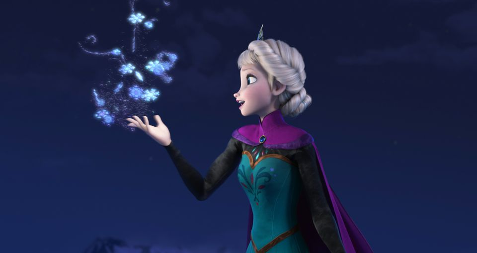 """Elsa of """"Frozen"""" was a popular Halloween option for young children."""