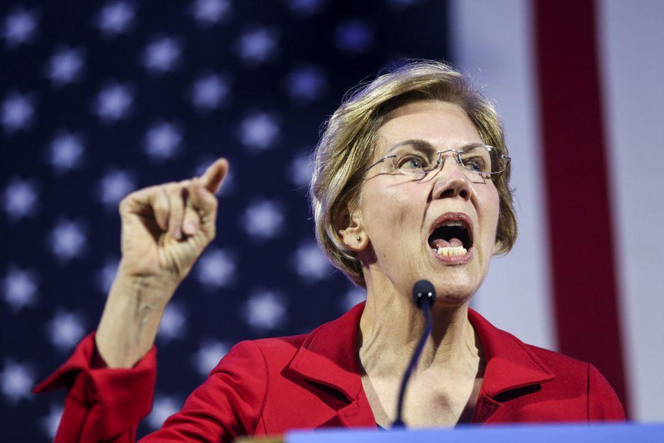 Senator Elizabeth Warren spoke in Manchester, N.H., on Feb. 22.