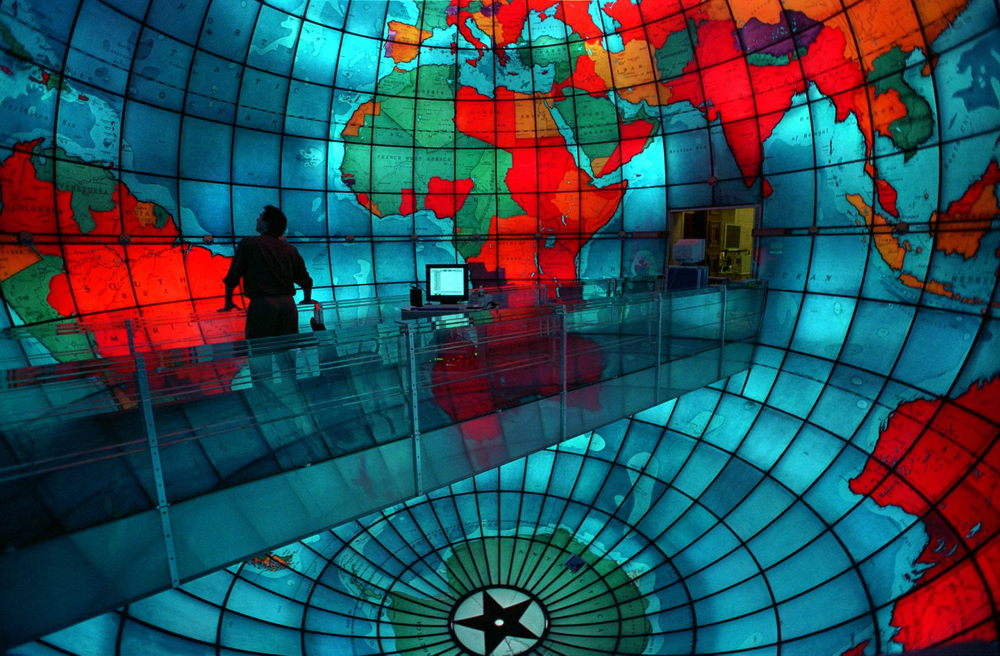 Mary Baker Eddy Library featuring the Mapparium, which is a thirty foot globe of brightly colored glass which represents a view of the world and the nations from the inside out.