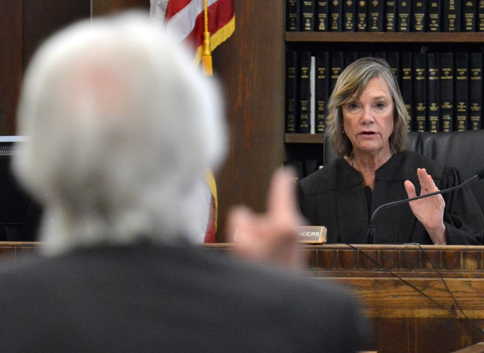 Defense attorney Jonathan Shapiro argued with Judge Janet Sanders.