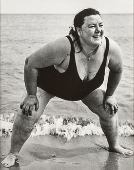 """Lisette Model's """"Coney Island Bather"""" at deCordova Sculpture Park and Museum."""