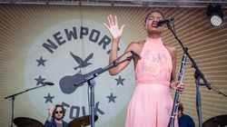 Allison Russell performed Tuesday at the Newport Folk Festival.