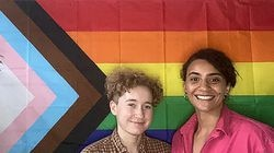 Kayla Mangan and Dom Washington in the Everett LGBTQ+ Youth Space and Resource Center.