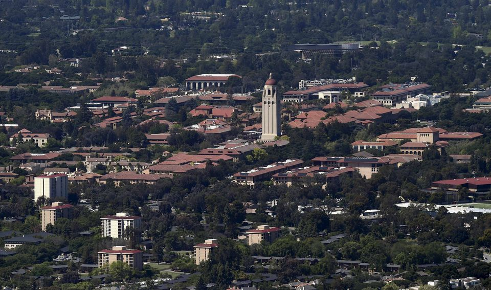Stanford University's campus. A former Stanford swimmer has been sentenced to six months in jail for sexually assaulting a woman outside a party in 2015.
