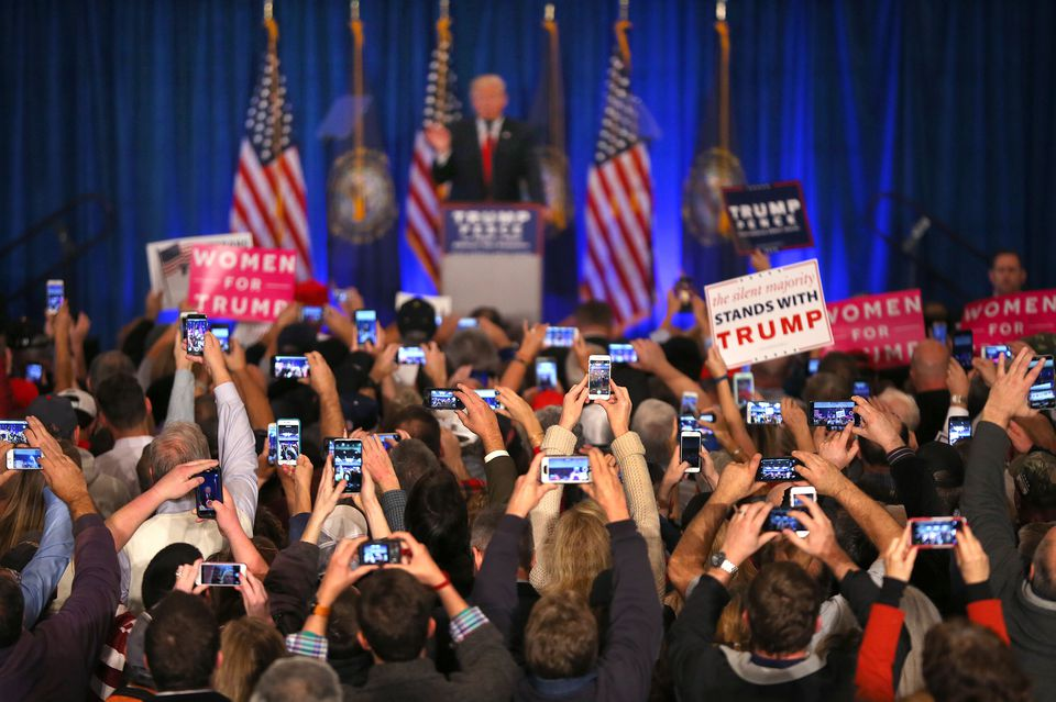 Republican presidential candidate Donald Trump spoke at a rally in Atkinson, N.H., Friday.