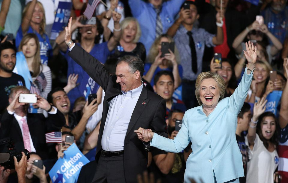 Hillary Clinton and Tim Kaine campaigned in Florida on July 23.