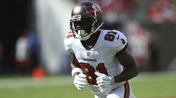 Tampa Bay Buccaneers wide receiver Antonio Brown (81) during the first half of an NFL football game against the Atlanta Falcons Sunday, Sept. 19, 2021, in Tampa, Fla.
