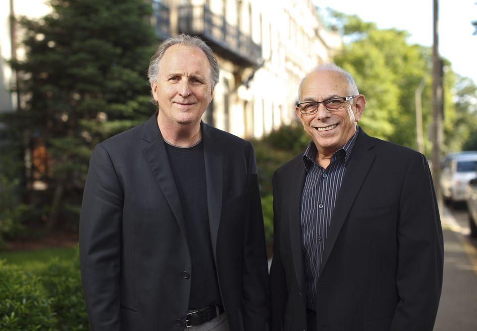 Roger Brown (left), the president of Berklee College of Music, and Richard Ortner, president of The Boston Conservatory.