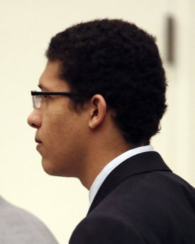 Defendant Philip Chism, who was 14 at the time of the attack, stood stoically as the verdict was announced.
