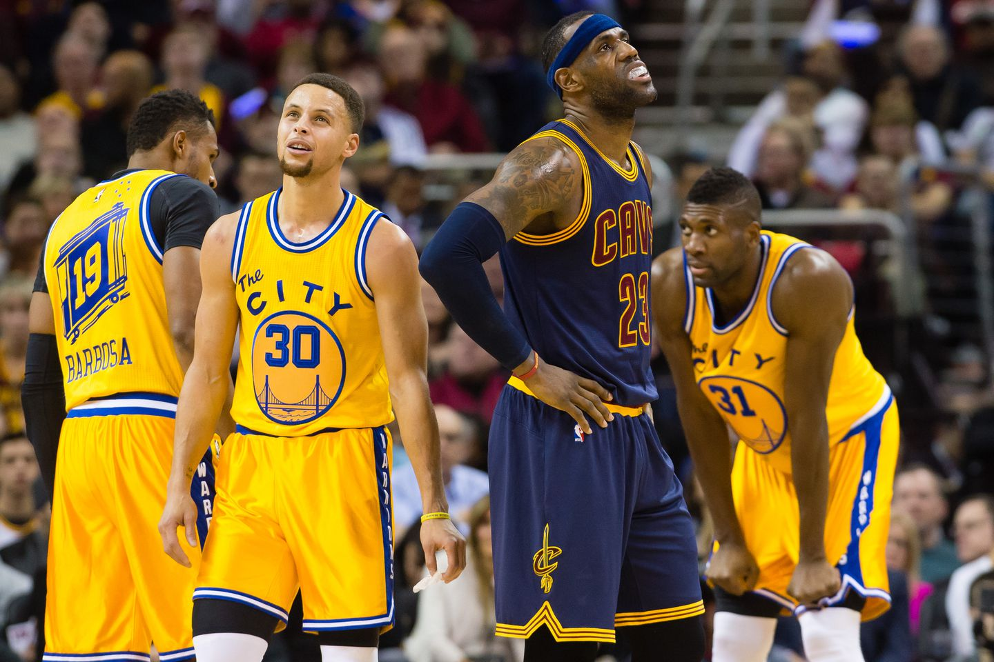 c6a8acf2eb60 Lebron James (23) knows a championship hinges on how well the Cavaliers  defend Stephen