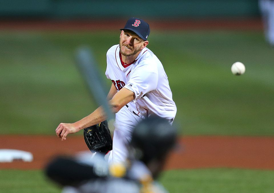Starting pitcher Chris Sale came right after the Pirates in his Red Sox debut.