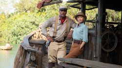 """Dwayne Johnson and Emily Blunt in """"Jungle Cruise."""""""
