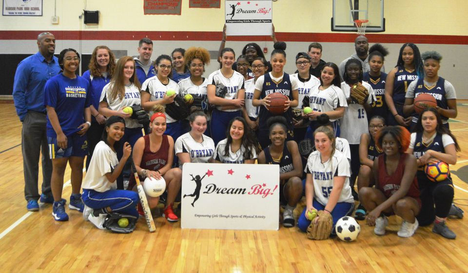 Students on sports teams at O'Bryant, Madison Park, and New Mission high schools as well as the Boston Showstoppers basketball program and the Rope Burners double dutch program are among more than 7,000 female athletes who have received sports gear and scholarships from Dream Big.